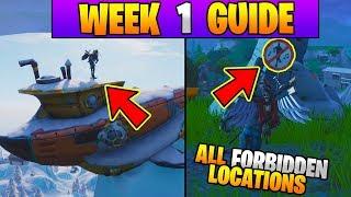 Fortnite ALL Season 7 Week 1 Challenges GUIDE! FORBIDDEN DANCE LOCATIONS! (Fortnite Battle Royale)