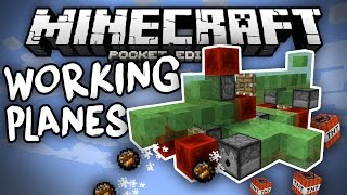 REDSTONE FLYING MACHINES in MCPE!!! - 4 Slime Block Creations 0.15.0 - Minecraft PE (Pocket Edition)