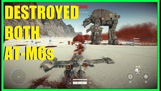 Star Wars Battlefront 2 - Destroyed both AT-M6 walkers on Crait! Don't underestimate the resistance!