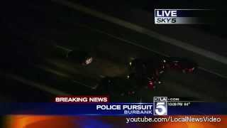 Police Chase - Encino, California August 9, 2013