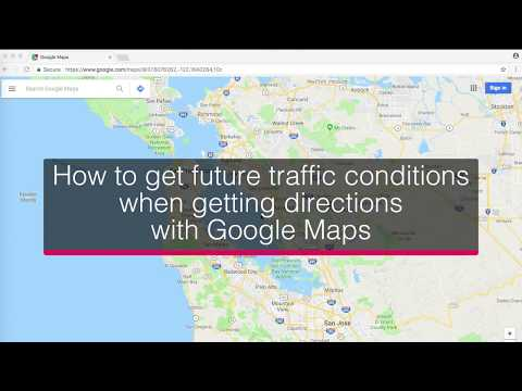 How to get future traffic conditions when getting directions with Google Maps