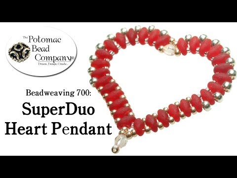 Make a SuperDuo Heart Pendant (Beadweaving 700)
