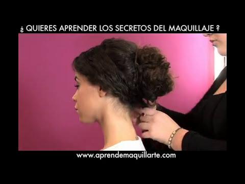Peinado de fiesta para pelo rizado - Peinado de fiesta por Asun Parra
