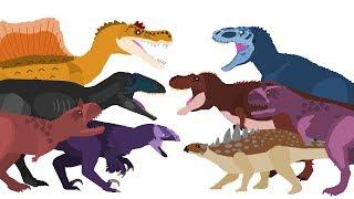 Dinosaurs Cartoons Battles - DinoMania | Dinosaurs Fighting - full episodes 2017