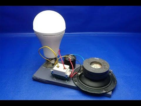 220v light bulb , Free Energy with speaker Magnet , Work 100% thumbnail