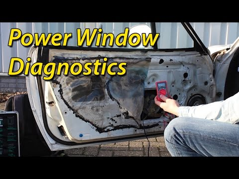 How to Diagnose Power Window Problems. Broken Switch or Motor?