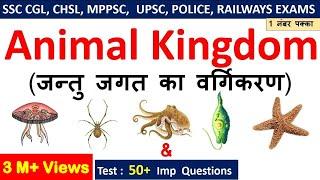 Biology Gk : Animal Kingdom (जन्तु जगत ) For SSC CGL , CHSL , MPPSC, UPPSC , RAILWAYS EXAMS