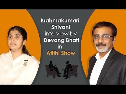 Exclusive Interview With Brahmakumari Shivani Didi By Devang Bhatt video