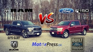 2019 Ram 1500 Limited Vs 2019 Ford F-150 Platinum Diesel - Putting Luxury To Work - Review