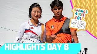 North Korea & Mexico team up in Archery   YOG 2018 Day 8   Top Moments