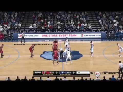 NBA Playoffs 2015 - Portland Trail Blazers vs Memphis Grizzlies - 1st Qrt - NBA LIVE 15 PS4 - HD