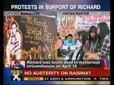 Richard Loitam death: Students protest in Delhi, Bangalore-NewsX
