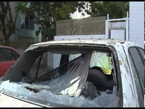 Damage Caused by Rockets Fired from Gaza into Ashkelon, Israel