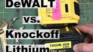 BOLTR: DeWALT knockoff battery vs. the real deal