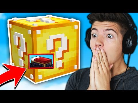 BUILDING A LUCKY BLOCK in BED WARS! (Minecraft BED WARS Trolling)