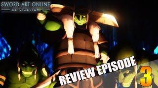 ANGRIFF der GOBLINS auf Kirito & Eugeo!!! | Sword Art Online Alicization Folge/Episode 3 Review