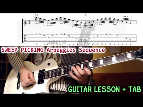 Lesson Guitar - Sweep Picking Tap Progression