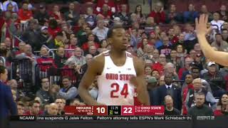 (NCAAM) Indiana Hoosiers at #17 Ohio State Buckeyes in 40 Minutes (1/30/18)