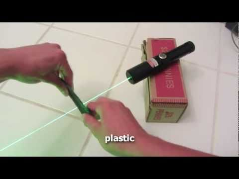 300mW Green Laser Torch from DinoDirect - Burning Stuff and Overview (HD!)
