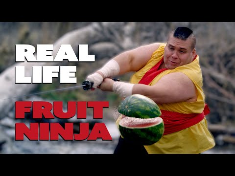 Fruit Ninja In Real Life To Dubstep! video