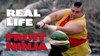 FRUIT NINJA IN REAL LIFE TO DUBSTEP! // @ScottDW