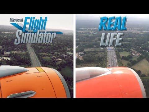Microsoft Flight Simulator (FS2020) vs Real Life | Landing in Gatwick UK