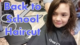 Back to School Haircut Cute Curly Hairstyle