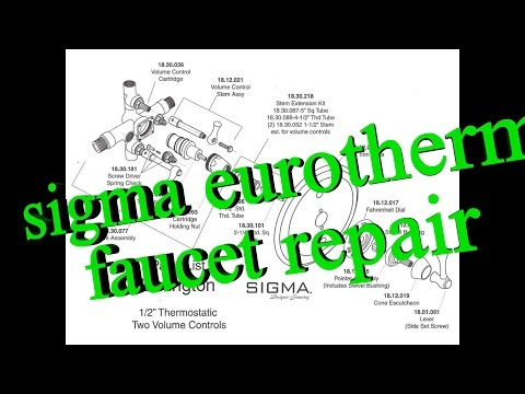 sygma eurotherm shower faucet repair aka sigmatherm 00_96.40 tempature control problems
