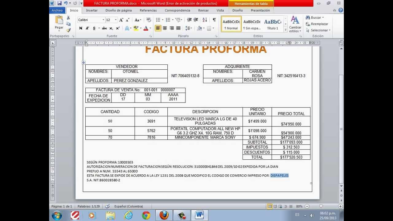 Formatos Facturas Excel   newhairstylesformen2014.com