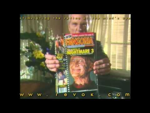 FANGORIA TV COMMERCIAL - The Tall Man sells Fangoria magazines out of a casket in his mortuary Video