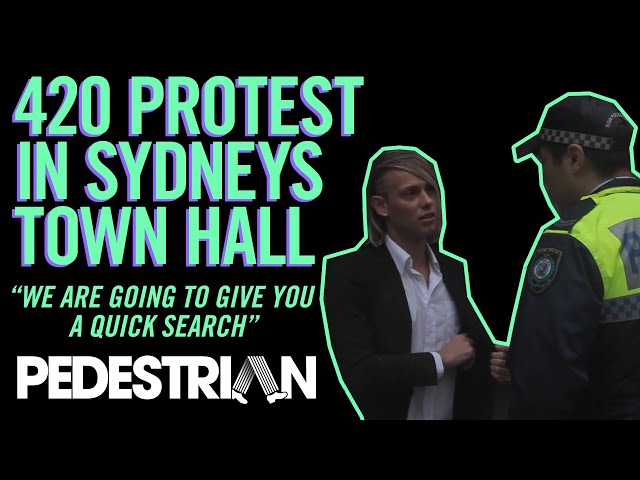 420 Protest at Sydney Town Hall