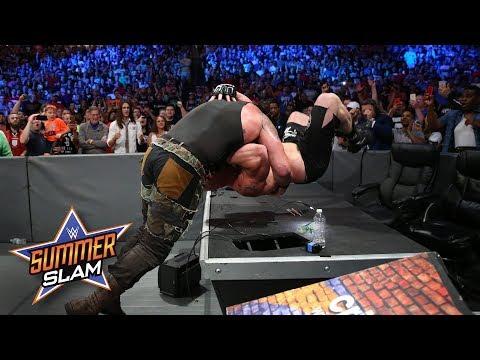 Braun Strowman manhandles Brock Lesnar in unprecedented fashion: SummerSlam 2017 (WWE Network) thumbnail