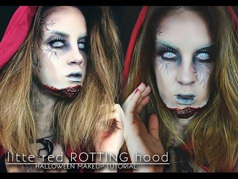 Halloween Makeup Tutorial: Little Red ROTTING Hood.