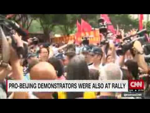 Protests held near Hong Kong economic summit