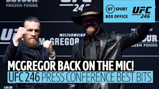 Conor McGregor and Cerrone's Press Conference best bits! | #UFC246