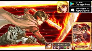 Titan Clash Android game-Get Blazing Levi with me