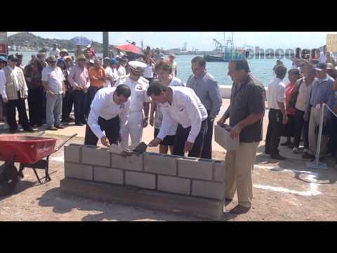 Colocan la Primera piedra del Mercado de Mariscos en Guaymas