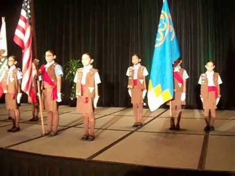 Brownie Girl Scout Troop 2719 Performs an Official Flag Ceremony (05-07-13)