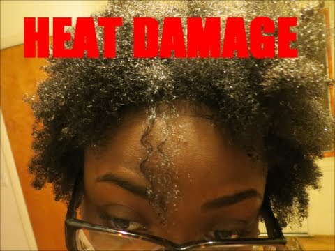 Heat Damage 4C Natural Hair YouTube