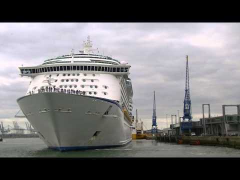 "Royal Caribbean Cruise Ship ""Adventure of the Seas"" called into Southampton as the dawn was about breaking on the first of 18 cruises throughout the summer o..."