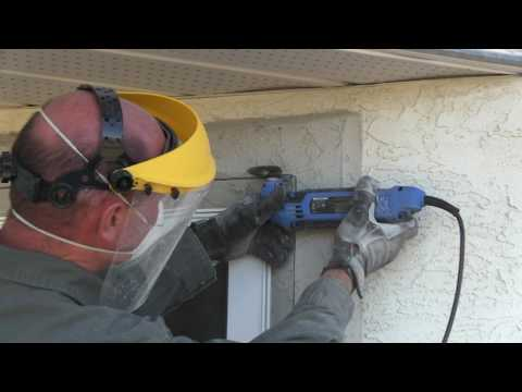 How To Replace A Window In A Stucco Wall