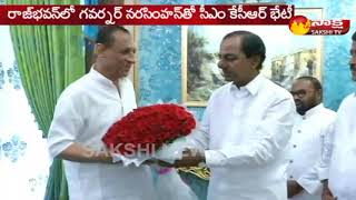 CM KCR meet with Governor Narasimhan    రాజ్భవన్లో గవర్నర్తో సీఎం కేసీఆర్ భేటీ