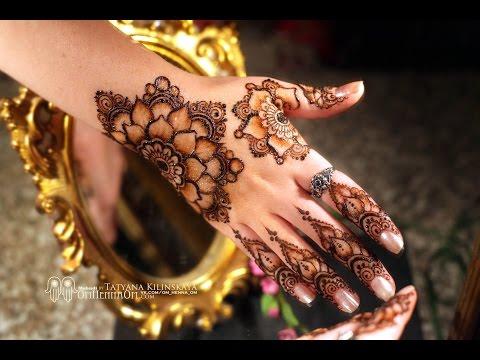 Flower Mandala Mehndi design/ Мехенди