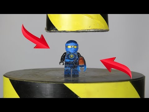 Experiment Lego Ninjago Jay VS Hydraulic Press | The Crusher