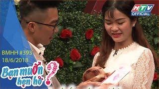 HTV BẠN MUỐN HẸN HÒ | Tặng anh chìa khóa mở cửa trái tim em | BMHH #393 FULL | 18/6/2018