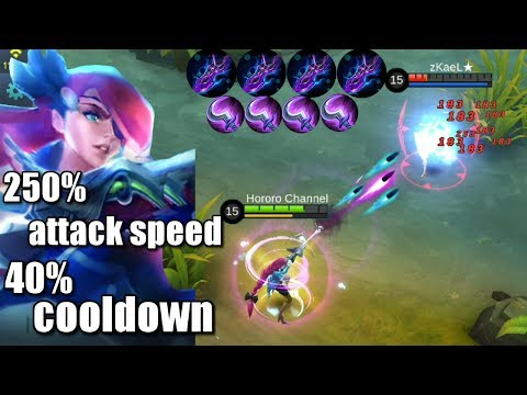 250% ATTACK SPEED AND 40% CD REDUCTION LESLEY UNLIMITED SKILL!!!