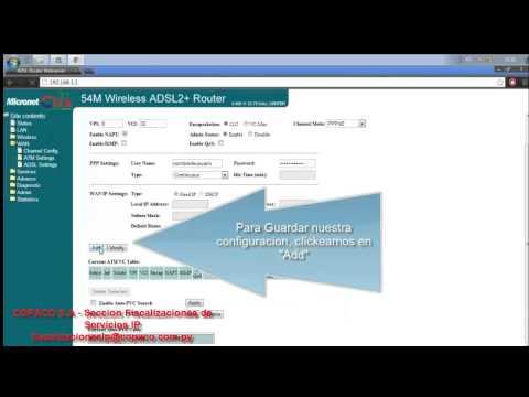 Configuración Modem ADSL - Micronet c/ WIFI negro COPACO