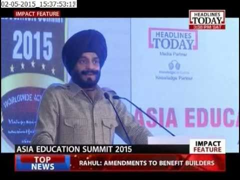 Asia Education Summit 2015 Part ll, Telecast on Headlines Today