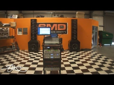 Crazy Shop Stereo System 8' Towers 26 Speakers 10400 Watts (Added PC, LED Monitor)