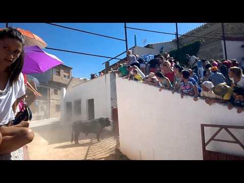 Cogida de Toro en Riopar(ALBACETE) 2014